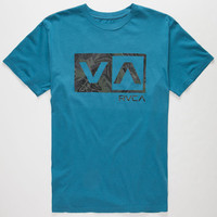 Rvca Jungle Balance Box Mens T-Shirt Blue  In Sizes