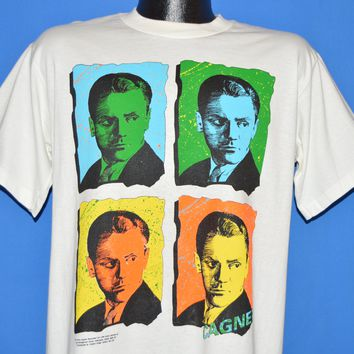 90s James Cagney Neon Pop Art Warhol Style t-shirt Large