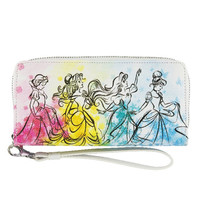 Disney Parks Princess Floral Wristlet Bag New with Tag