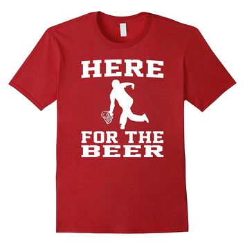 Funny Bowling Drinking Shirt Here For The Beer