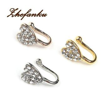 ac DCCKO2Q New Crystal Heart Unique Fake Nose Ring For Women Fake Septum Piercing Nose Rings And Studs Noseclip Splint Body Jewelry