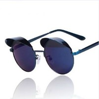 Cute Round Sunglasses with Shade PZF56
