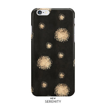 Rose Gold Dots iPhone Case, iPhone 6, iPhone 6 Plus, iPhone 5/5s, Rose Gold Dots Samsung Galaxy Case,faux rose gold,Black,NewSerenityStudio