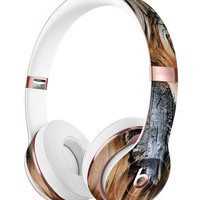 Raw Aged Knobby Wood Full-Body Skin Kit for the Beats by Dre Solo 3 Wireless Headphones