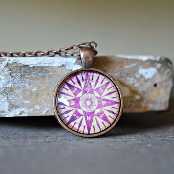 World Traveler Compass Necklace