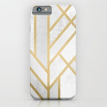 Art Deco Geometry 2 iPhone & iPod Case by Elisabeth Fredriksson
