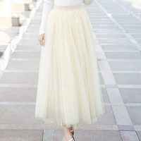 High-Waisted Pleated Maxi Skirt