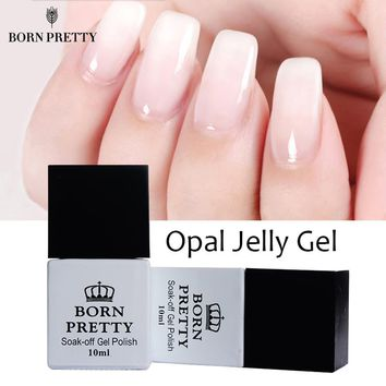 1 Bottle 10ml BORN PRETTY Opal Jelly Gel White Soak Off Manicure Nail Art UV Gel Polish