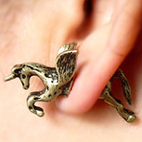 Copper Unicorn Through And Through Earring