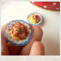 Home Made Pasta For Two - Dollhouse Miniature Food