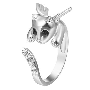 In My Memories Adjustable Cat Ring