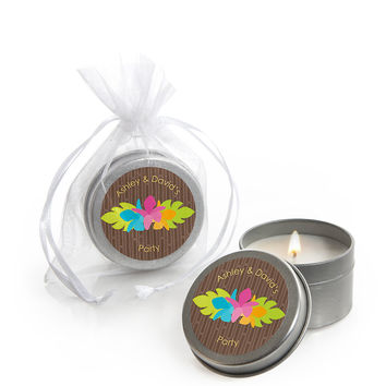 Luau - Personalized Everyday Party Candle Tin Favors