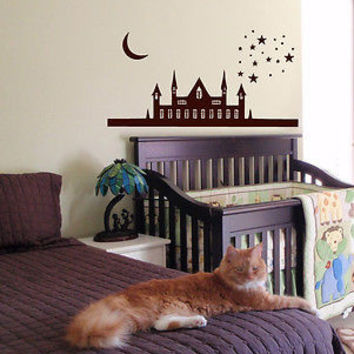 WALL VINYL STICKER DECALS ART MURAL Baby Kid Room Nursery Magic Castle A1568