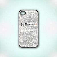 Ed Sheeran - Design Print for iPhone 4/4s Case or iPhone 5 Case - Black or White