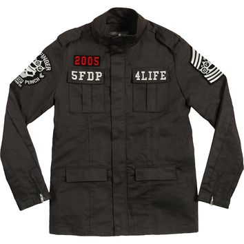 Five Finger Death Punch Men's  Army Jacket Black
