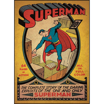 Superman First Issue Comic Book Cover Wall Accent Sticker