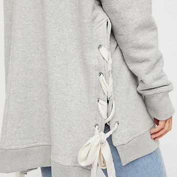 So Plush Pullover - Grey by Free People