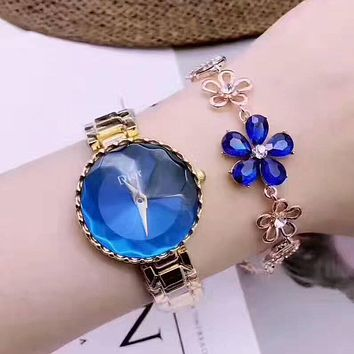 Dior Women Fashion Gemstone Quartz Movement Watch Wristwatch