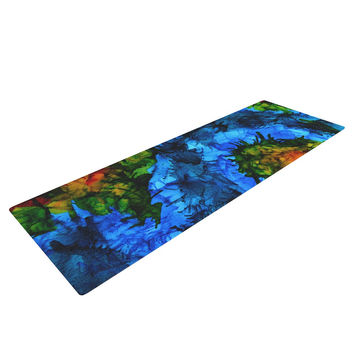 "Claire Day ""Flow"" Blue Green Yoga Mat"