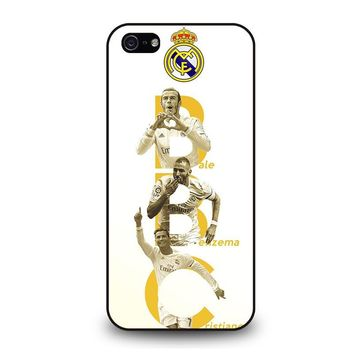 REAL MADRID TRIO BBC iPhone 5 / 5S / SE Case Cover