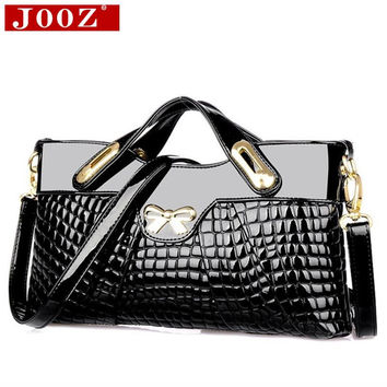 JOOZ designer handbags high quality woman leather handbags Crocodile women bag For Women party evening Clutch Bag
