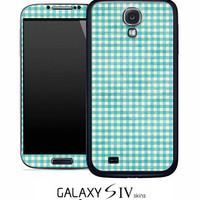 Vintage Green Plaid Skin for the Samsung Galaxy S4, S3, S2, Galaxy Note 1 or 2
