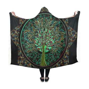 Hooded Blanket Tree Of Life 60x48 Inch