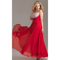 A-Line Sweetheart Floor-Length Chiffon and Sequins Prom Dress SAL0940 - Occasion Dresses
