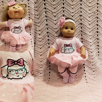 """Baby Doll Clothes to fit Bitty Baby """"See Better Puppy"""" (15 inch) doll outfit Will fit Bitty Baby® dress, pants, socks, headband dog G10"""