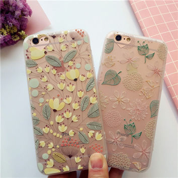 Embossed flower mobile phone case for iphone 6 6s 6plus 6s plus + Nice gift box!