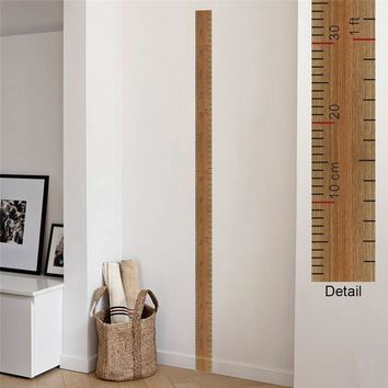 Ruler Design Height Measure Wall Stickers For Kids Rooms