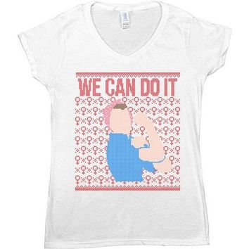 Rosie The Riveter Cross-Stitch -- Women's T-Shirt