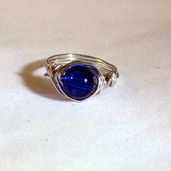 UTMOST - Royal Blue Wire Wrapped Ring