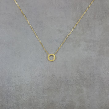 Circle Karma Gold Necklace