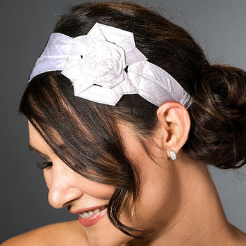 Vintage Style Wedding Headband, Wedding Hair Flower Headband,  Unique Bridal Hair Accessories, Bridal Flower Hair Accessories
