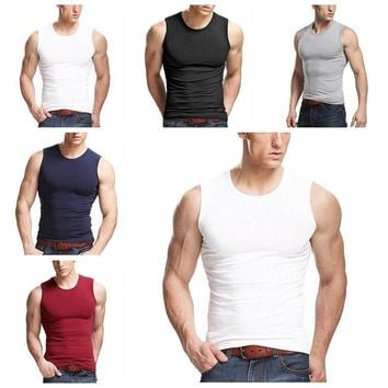 Men's Fashion Sleeveless Fit Vest Tank Tops Tee Casual Sport T-Shirt Tops M-2XL
