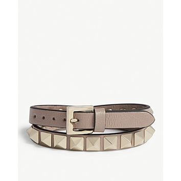 VALENTINO Rockstud double leather bracelet