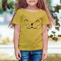Youth Fine Jersey Tee  / Kids Tshirt / Toddler Tee / Cat Face