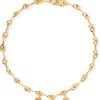 Chloé - Sloan gold-tone, enamel and resin necklace
