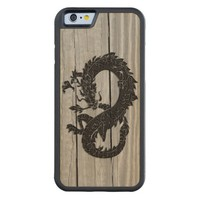 Oriental Dragon Black on Wood Case iPhone 6