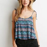 Tribal Print Self-Tie Cami