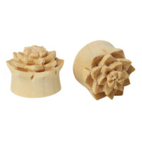 Wood Carved Flower Saddle Plug 2 Pack