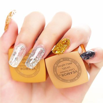 UV Builder Glitter Gel Nail Polish 3PCS/LOT Soak Off UV Gel Long Time Lasting Nail Gel Polish Shining Colors