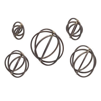 Attractive Spheres Metal Wall decor - Set of 5 by IMAX
