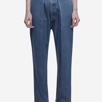 Washed Denim Cholo Trousers In Blue