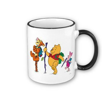 Piglet, Tigger, and Winnie the Pooh Hiking Coffee Mugs from Zazzle.com