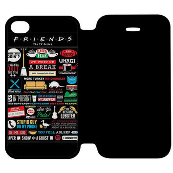 FRIENDS TV SHOW INFOGRAPHIC POSTER. iPhone 4 Flip Case Wijayanty.com