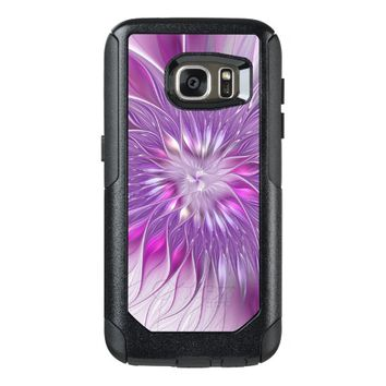 Pink Flower Passion Abstract Fractal Art OtterBox Samsung Galaxy S7 Case