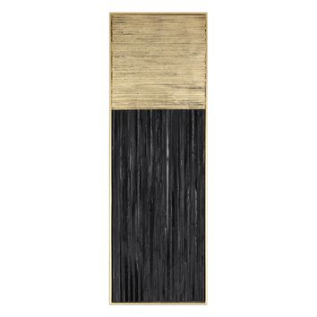 Pierra Contemporary Metallic Gold Leaf & Charcoal Black Wall Art by Uttermost