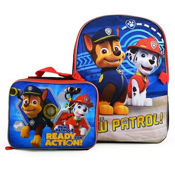 Paw Patrol Backpack and Lunch Bag Set [Ready for Action!]